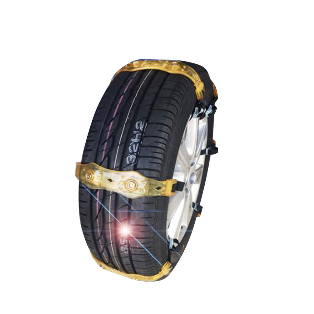 Vehemo TPU 1 Pc Universal Thickened Snow Tire Chain Climbing Mud Ground Roadway Safety Anti-Skid Belt Easy Installation