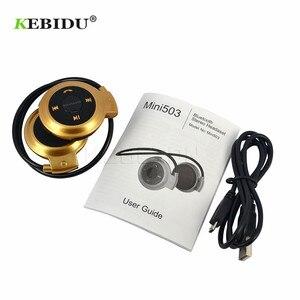 Image 4 - Kebidu TF + FM + MP3 Neckband אלסטי מקופל אוזניות אלחוטי אוזניות אוזניות דיבורית ספורט מיני Bluetooth 5 צבעים זמין