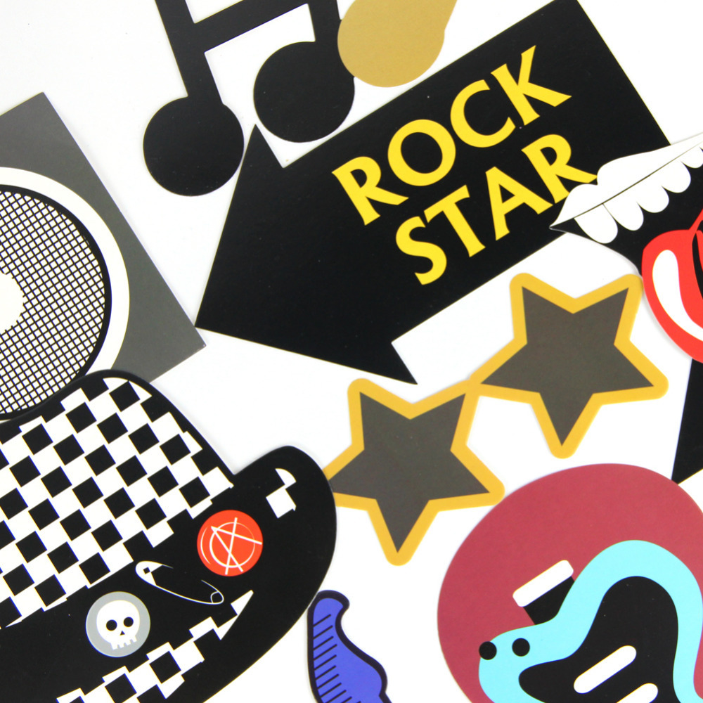 Aliexpresscom Buy Pack Of 18 Party Photo Booth Props Rock Star