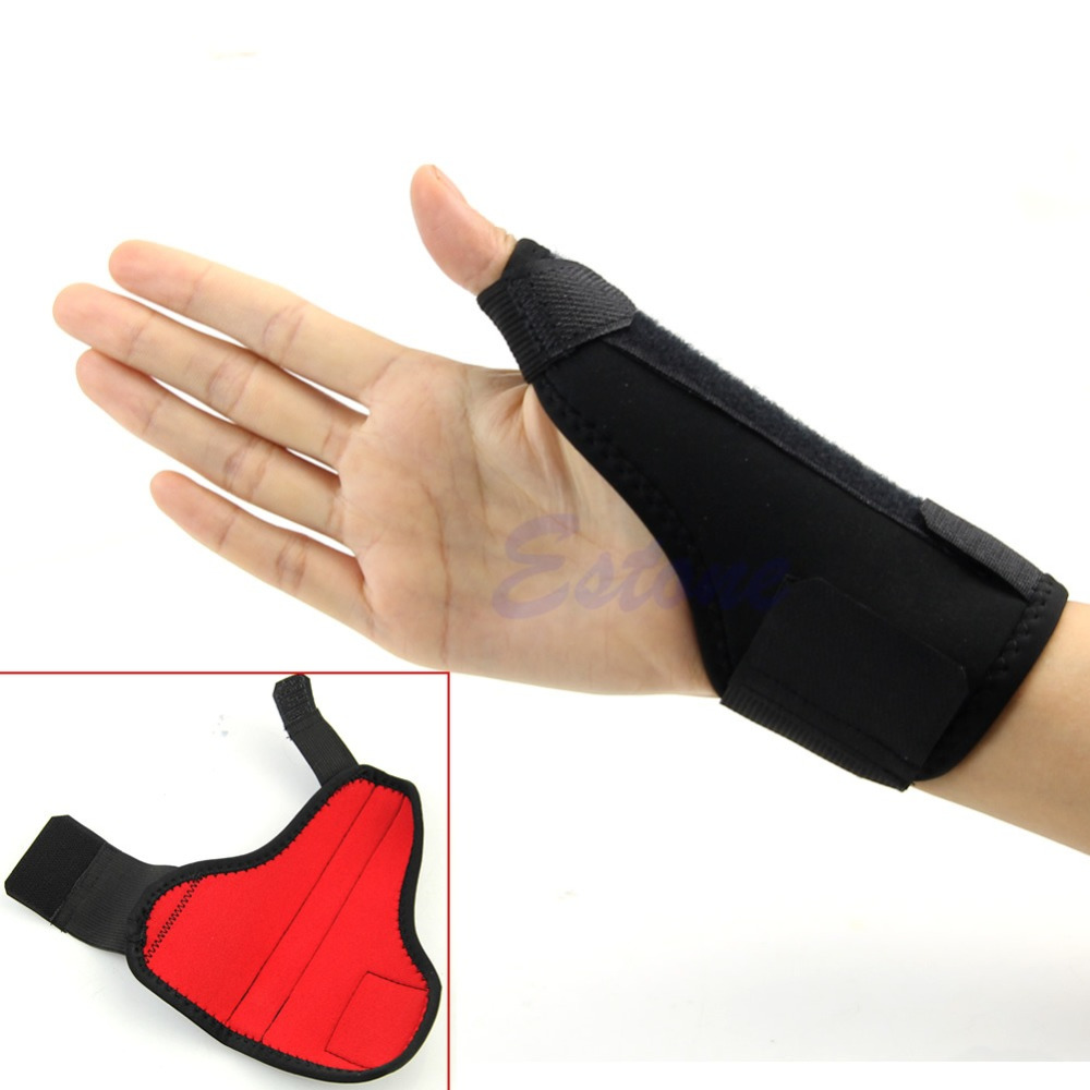 Medical Sport Wrist Thumbs Hands Spica Splint Support Brace Stabiliser Arthritis  Black