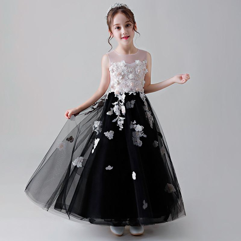 2019 Children Lace Tulle First Communion Gown Kids Girl Appliques Pearls Wedding Party Dress Teen Girl Bead Princess Dress Q4842019 Children Lace Tulle First Communion Gown Kids Girl Appliques Pearls Wedding Party Dress Teen Girl Bead Princess Dress Q484