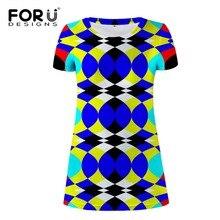 FORUDESIGNS Royal Blue Women Dress Mixed Color Stripe Pencil Female Fashion Girls Summer Beach Casual Slim Vestidos