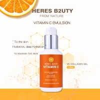 120 ml HERES B2UTY Vitamina C Soro Rosto Branco Nevado Mulheres Planta Emulsão Essência Endurecimento Rugas Cuidados Com a Pele Creme de Clareamento