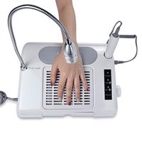 3 in 1 Nail Art Drill 35000RPM & Suction Dust Collector Machine with Desk Lamp Salon Nail Art Equipment Tool
