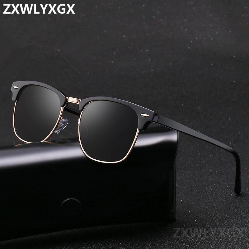 Classic Polarized Brand Designer Sunglasses Men Women Retro  High Quality Sun Glasses Rivet Female Male Fashion Mirror Sunglass