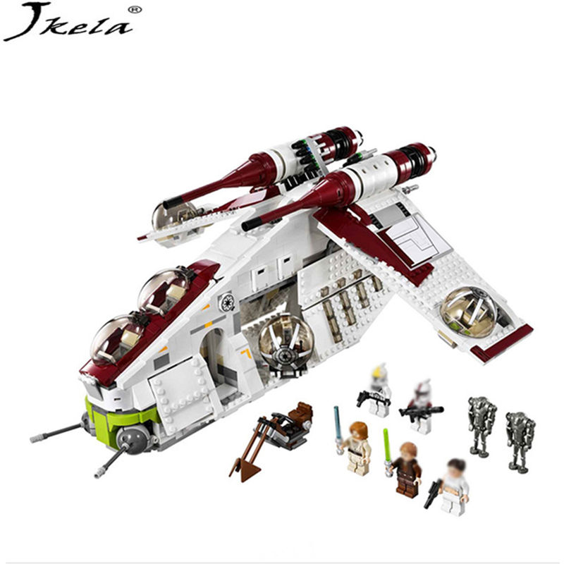 New 5041 Star Wars Series The The Republic Gunship Building Blocks Bricks Toys Compatible With LegoINGly Children Model Starwars [jkela]499pcs new star wars at dp building blocks toys gift rebels animated tv series compatible with legoingly starwars page 1