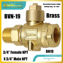 Ball-Valve with 3/4--Npt Threaded-Connection Is Good-Choice for R410a Refrigeration Plant