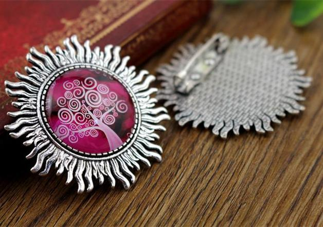 New Fashion 2pcs 25mm Inner Size Antique Silver Brooch Leaves Style Cabochon Base Setting (A3-40) 2pcs 20mm inner size antique silver and antique bronze colors plated brooch pin fish style cabochon base setting