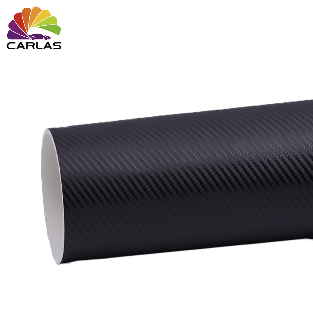 1.52*30 M 3D fiber de carbone vinyle voiture enveloppe film voiture autocollant décalque moto voiture style accessoires