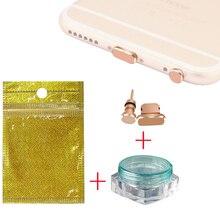 10 шт. металлический 3,5 мм разъем для наушников и порт для зарядки для iPhone для Android пылезащитный Разъем для наушников пробка