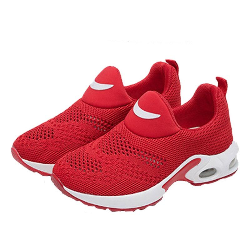 Child Casual Shoe Boys Girls Fashion Runing Shoes Black Red Kids Anti Slip Air Cushion Sport Shoes Children School Shoe #26