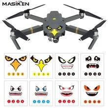 Masiken 8 шт. ПВХ Водонепроницаемый Акула Стикеры наклейка кожи для DJI Spark/DJI Mavic Pro/DJI Phantom 3/4 drone wingsland S6 наклейки