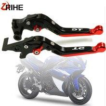 CNC Motorbike Motorcycle Folding Extendable Brake Clutch Levers For YAMAHA DT 125 125LC 125R 125RE DT125LC DT 50 DT50R DT125 RL for yamaha yfm700 raptor 700r 2000 2006 3d rhombus hollow motorcycle brake clutch levers for dt125 re dt125 r dt 125 2004 07