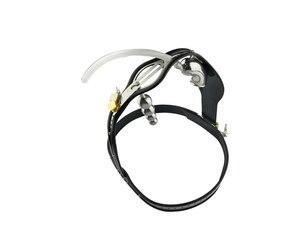 Image 3 - נירוסטה זכר צניעות תחתוני כלוב עם תקע אנאלי, חגורת צניעות, מכשיר צניעות, כלוב זין, פין מנעול, A182 new