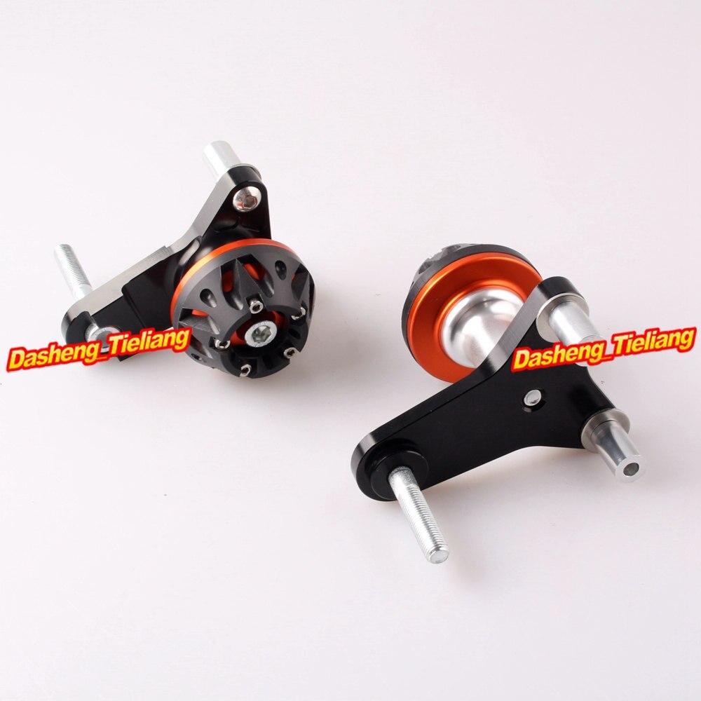For Suzuki GSXR 600 750 CNC Aluminum Alloy Frame Sliders Crash Pads Protector 2011 2012 2013 , Orange