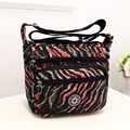 Portable large capacity women's shoulder bag Stripe more colors Oxford cloth leisure packages fashion Floral print crossbody bag