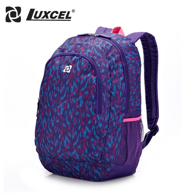 Luxcel women bag casual backpack Shoulder striped backpack school bags for girl teenage vintage backpack women bag rucksack