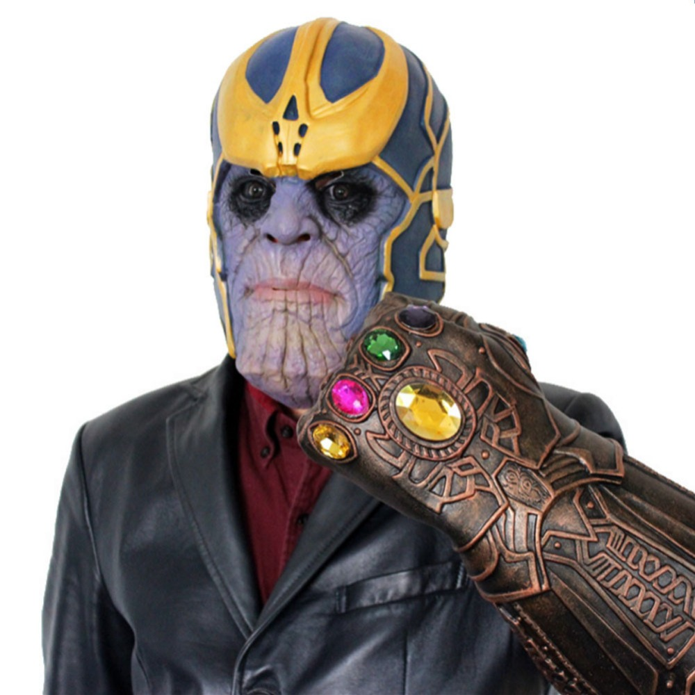 Useful Thanos Mask Infinity Gauntlet Avengers Infinity War Gloves Helmet Cosplay Thanos Masks Halloween Props Kids Christmas Gift Vivid And Great In Style Action & Toy Figures