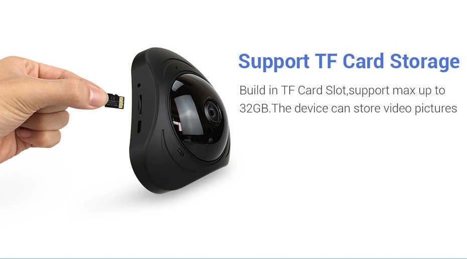 360 VR Камера 960 P IP Wi-Fi Камера s 1.3MP сетевой безопасности Камара Беспроводной Fisheye видеонаблюдения Камера s