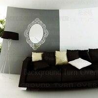 Creative European style elegant oval mirror frame totem vintage wall sticker for bedroom sofa corner decoration of home R009