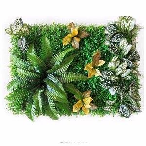 Image 5 - 60*40 cm falso artificial milão, plantas de parede, grama artificial, jardim doméstico, decoração vertical, fundo de casamento, decoração de parede