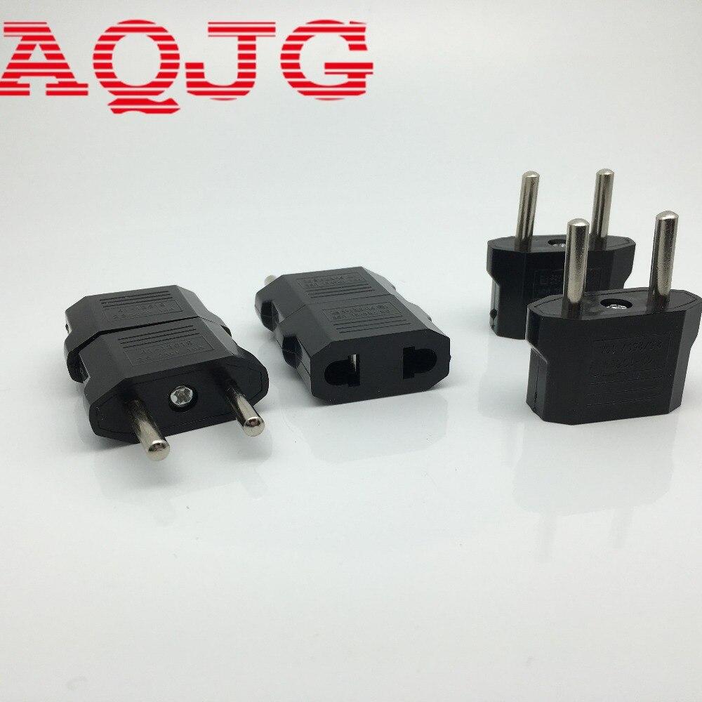 1pcs Black US to EU AC Power Plug Travel Converter Adapter Electrical Plugs Adaptors Top Quality Portable AQJG kpt 18 us socket to au plug ac power adapter plugs black 10 pcs 2 5 250v