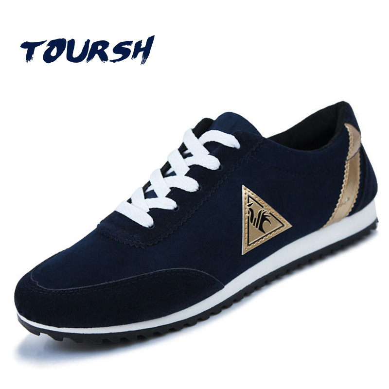 TOURSH Running Shoes Male Sport Shoes Breathable Men Sneakers Athletic Traiers Mens Sport Shoes Masculino Krasovki Men Black