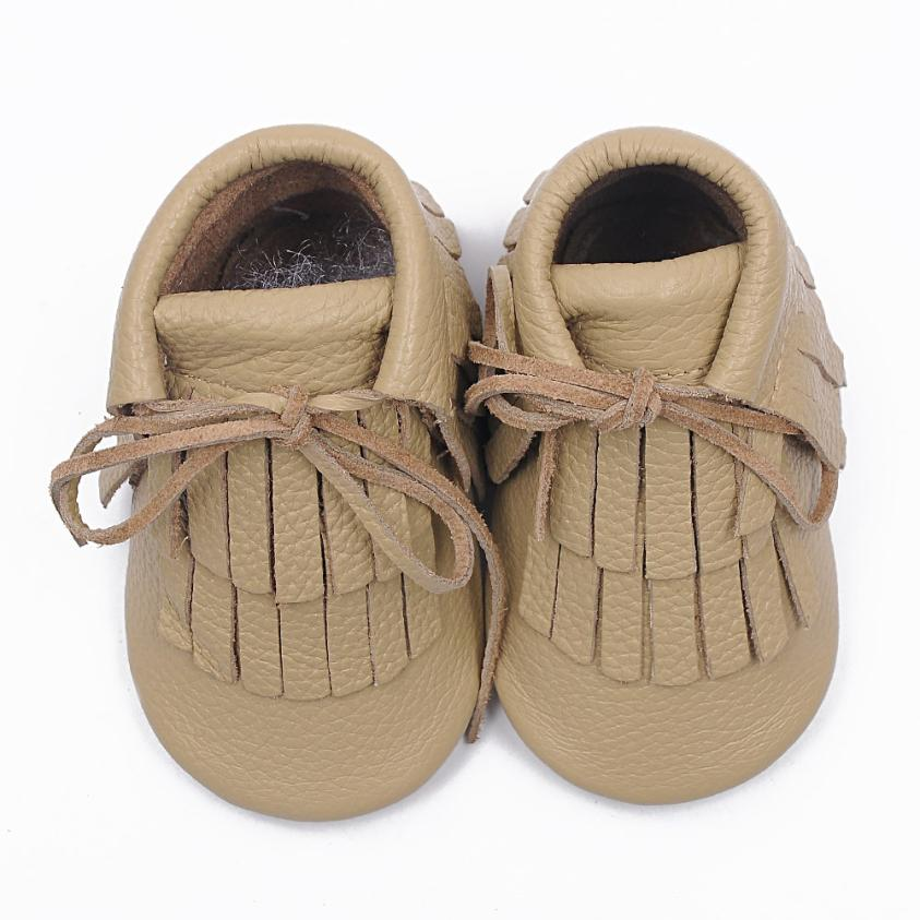 2018 Baby Toddler Winter Moccasins Tassel Shoes Firstwalker Boots Leather Shoes