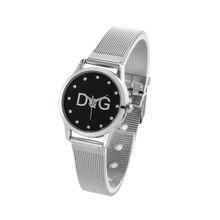 цены New Fashion Brand Metal Mesh Stainless Casual Quartz Watch Kobiet Zegarka Women Crystal Dress Watches Relogio Feminino Hot sale