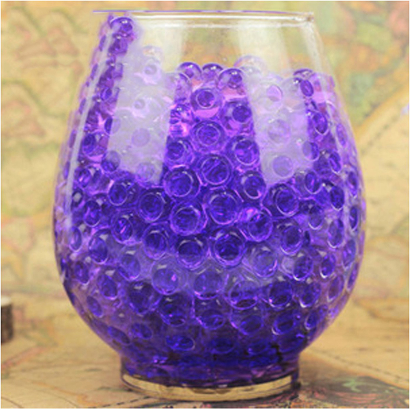 100g Pearl Dark Pink Vase Filler Shaped Crystal Soil Water