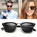 Dollger Vintage Half Metal Polarized Sunglasses Men Women Classic Style Sun glasses Brand Designer Gafas Oculos De Sol  D0303