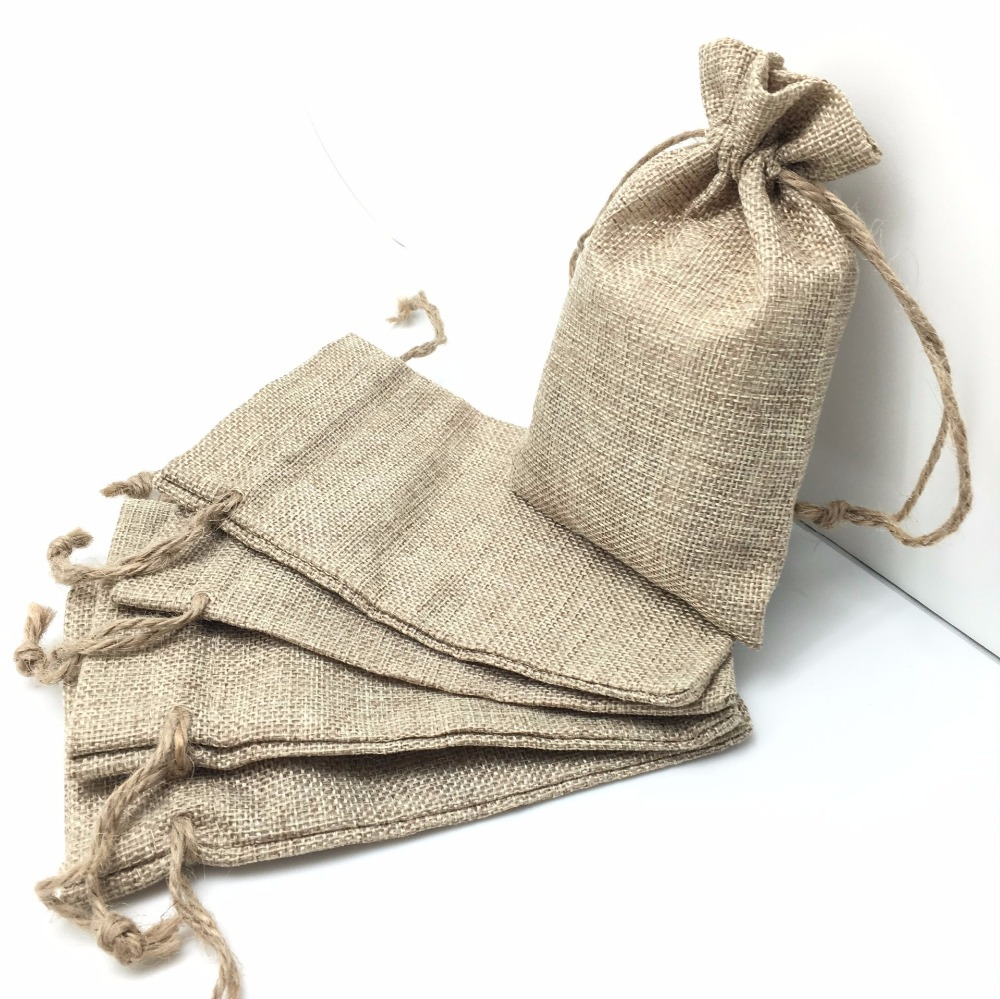 5 pieces Vintage Burlap Jute Sacks Weddings Party Favor Drawstrings Gift Bags Wrapping AA80845 pieces Vintage Burlap Jute Sacks Weddings Party Favor Drawstrings Gift Bags Wrapping AA8084