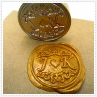Design Your Own Initials Customize Logo Name Box Set Personalized Letter Sealing Wax Wedding Wax Seal