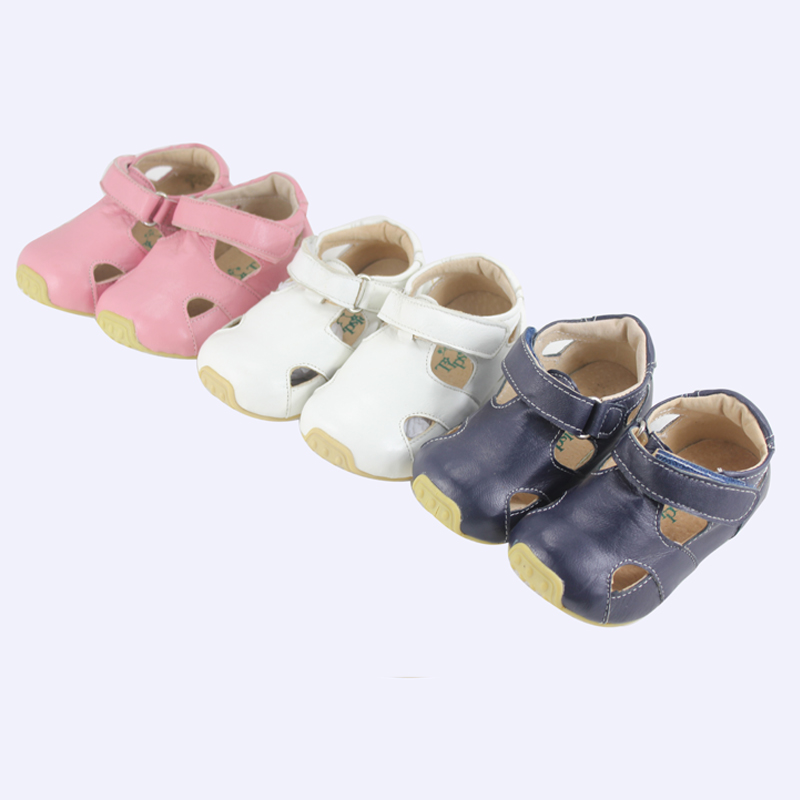 TipsieToes Brand High Quality Sheepskin Leather Kids Children Moccasins Sandals Shoes For Boys And Girls New 2016 Summer 63102