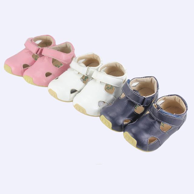 Tipsietoes marca de alta calidad de piel de oveja sandalias de cuero de niños mocasines zapatos para niños y niñas nuevo 2016 verano 63102