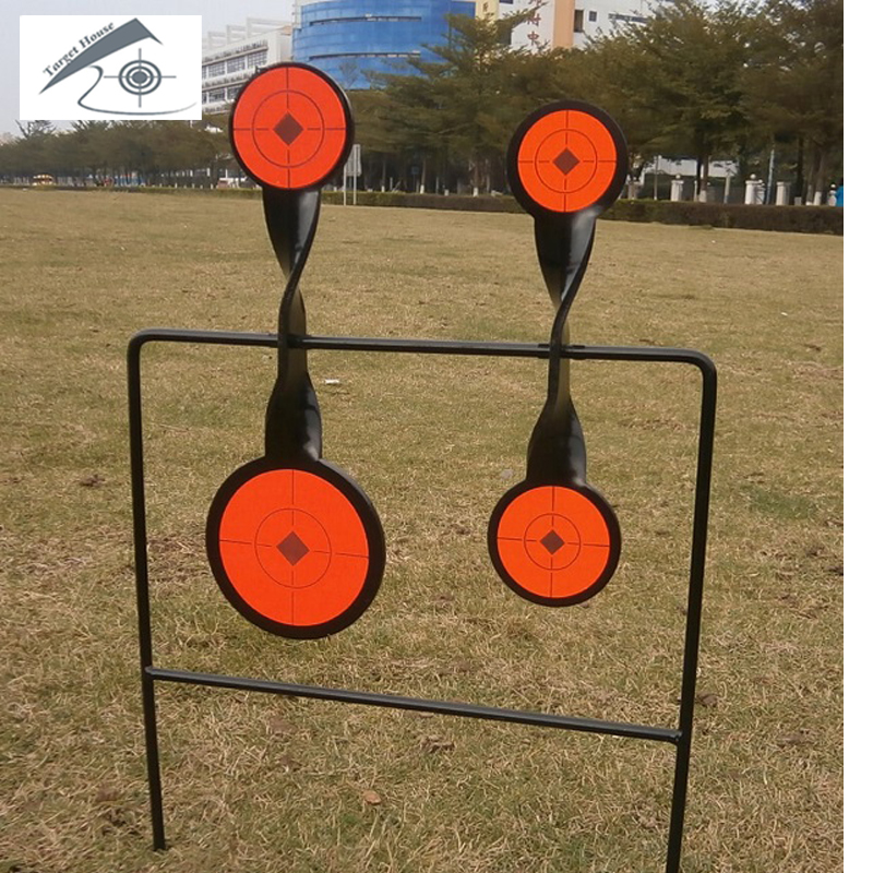 Airgun 4-Plate Spinner Target/Also For Paintball Shooting/Improving Hunting Shooting Tactical Skill/Outdoor Sport