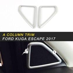 Kolumny pokrywa osłonowa wykończenia ramki naklejki wnętrze akcesoria dla Ford KUGA ucieczka 2017 2018 w Naklejki samochodowe od Samochody i motocykle na