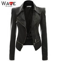 PU Spring Women Jacket Leather Jackets Women Coat Bodyshape Short Cool Sexy Tops Man made Leather Outer Garment 2018 Women Cloth