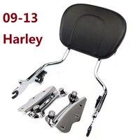 Sissybar спинки ж/Pad 4 точки док-комплект для Harley Touring Road King FLHR Street Glide CVO Electra 2009 -2013 хромированная
