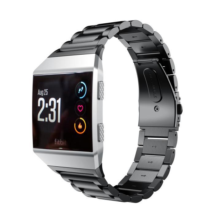 Kartice para Fitbit Acessórios de Aço Cinta com Fecho Iônico Bandas Inoxidável Metal Link Pulseira Substituição Dobrável