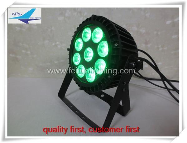 A- (30/lot) 9x15w ip65 rgbwa led par light Stage Wash Light