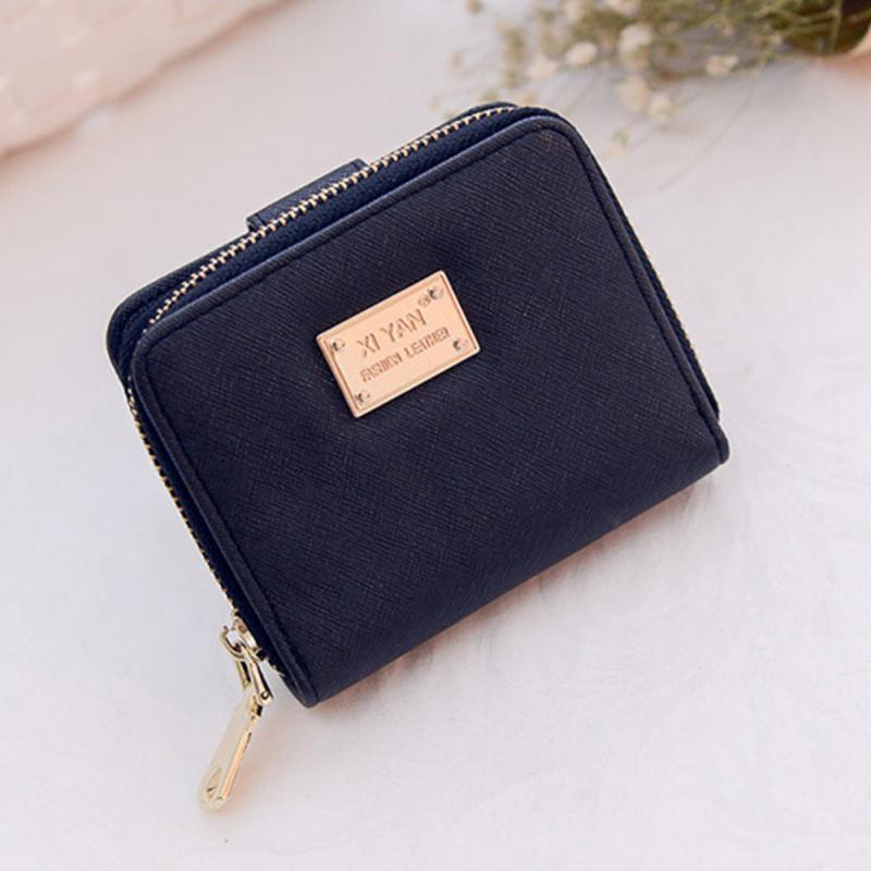 New Arrival Leather Wallet Female Fashion Brands 2018 Short Wallet Women  Coin Purses Holder Small Zipper Wallet-in Wallets from Luggage   Bags on ... 8c3e281c69f