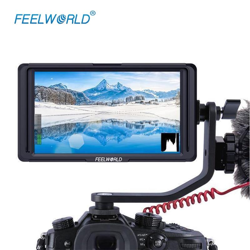 Feelword F6S 5 Polegada Utra Fino IPS Full HD 1920x1200 k HDMI 4 On-camera Campo de Vídeo monitor para Canon Sony Nikon Cardan Suave 4