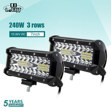 Co Luce 1 Pair Auto Luci a Led 7 Pollici Auto Luce 120W 4X4 Ha Condotto La Barra per Lada 2114 Niva Vaz Uaz Ford Toyota 4X4 Accessori(China)