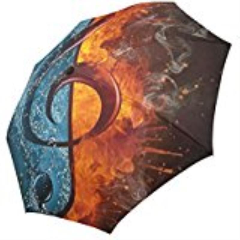 Custom Amazing metal Seahorse and fish Compact Travel Windproof Rainproof Foldable Umbrella