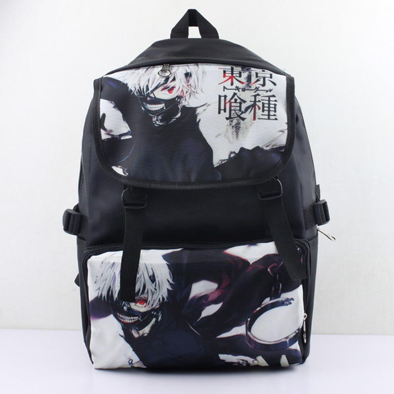 Anime Nylon Waterproof Laptop Backpack/Double-Shoulder Bag/School Bag Printed with Kaneki Ken of Tokyo Ghoul nylon double shoulder bag backpack