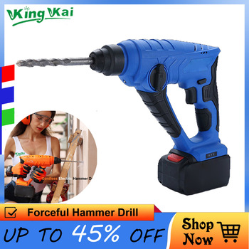 5000 10000mAh Long Duration Wall Hammer Cordless Drill Rechargeable Lithium Battery Multifunctional Electric Hammer Impact Drill 5000 10000mah long duration hammer cordless drill rechargeable lithium battery multifunctional electric hammer impact drill