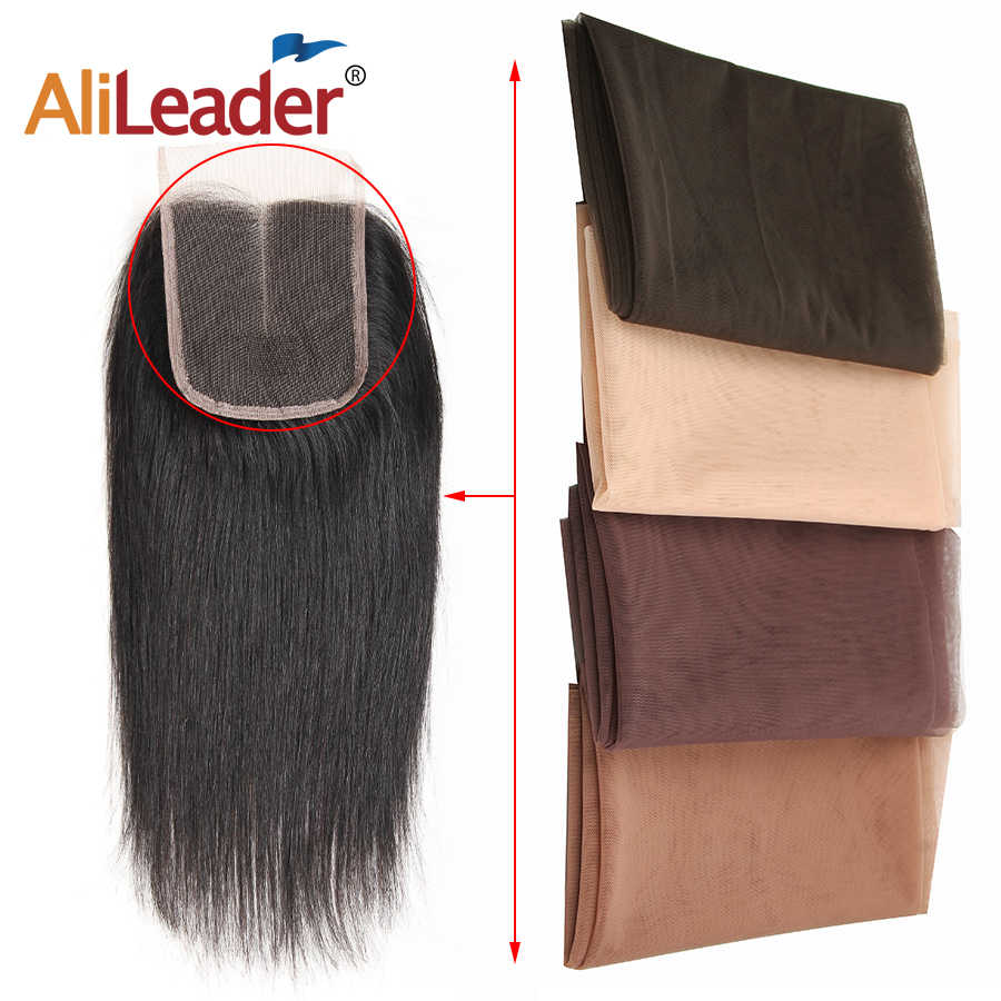 AliLeader en iyi peruk yapımı için dantel saç Net peruk yapımı 1/4 Yard İsviçre dantel Net taban Frontal kapatma şeffaf çıplak