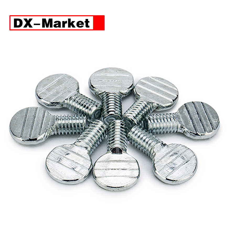m4 m5 m6 m8 m10 carbon steel racket thumb screw ,white zinc plating thumb bolt