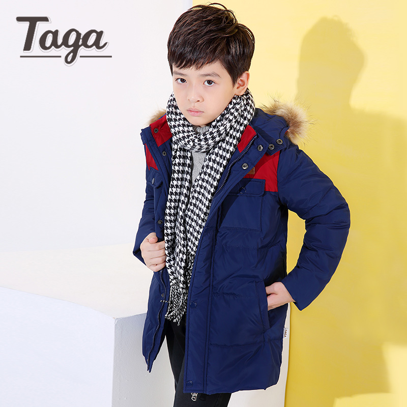2017 New Long Hooded Boys Winter Jacket Coat White Duck Down Girls Winter Clothes 4-16 Years Baby Boys Coat Warm Jacket 3 color winter down jacket boys coat for baby girls clothes children warm outwear cute solid color high quality clothing hooded snowwear